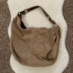 Lucky Brand Suede Peace Sign Bag